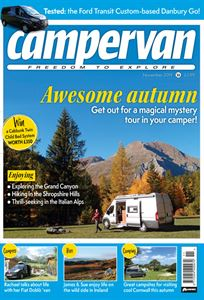 The November issue of Campervan magazine