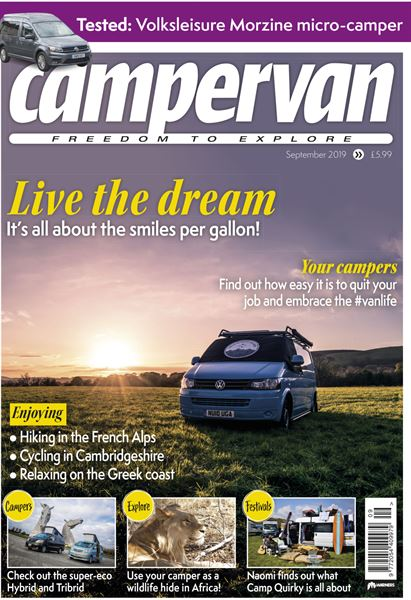 The September issue of Campervan magazine is out now