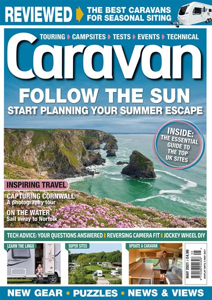 The May 2021 issue of Caravan is on sale now