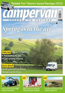 The April 2019 issue of Campervan magazine