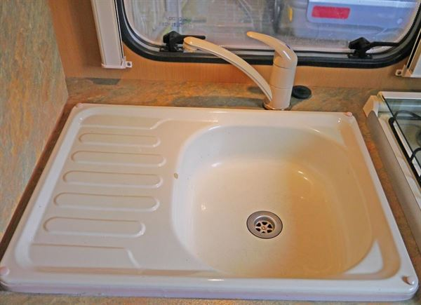 Diy caravan kitchen makeover practical advice new used caravans caravanning reviews - Caravan kitchen sink ...