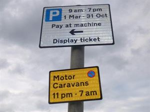 The signs were illegally displayed for up to 11 weeks