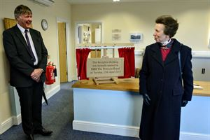 HRH The Princess Royal unveils the plaque