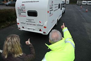 Caravan tow course with the Camping & Caravanning Club