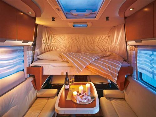 Drop Down Bed Motorhome Layouts