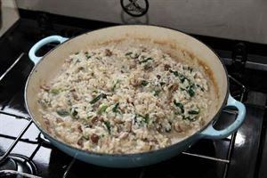 Monica's mushroom risotto