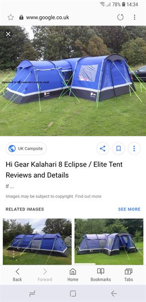 b4f6ddb0257 Hi Gear Kalahari 8 - For Sale - Camping - Out and About Live