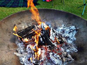 The fire pit you can use at the park