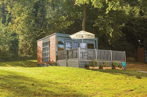 One of the glamping pods at Abbey Wood campsite