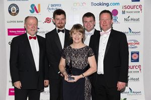 The Trethem team collecting their award