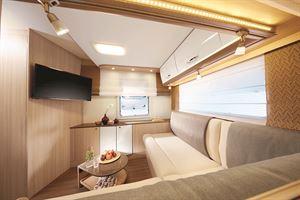 Twin lounge motorhome layout
