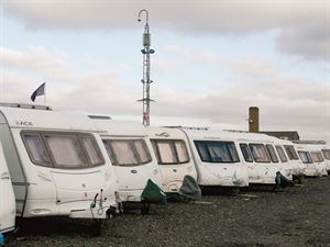 Caravans secure in storage