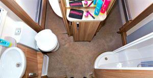 The washroom layout