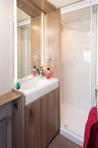 The Evolution 580 has a full-width rear shower room
