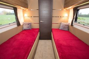 The beds are 82cm wide and 1.93m long, so ideal for tall buyers