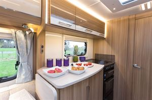 The extension gives you 35cm of extra kitchen space