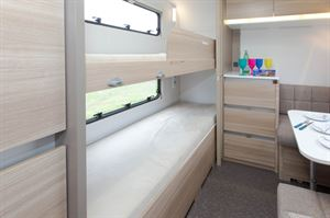 The standard Severn has two bunks but you can order yours with three if you need beds for seven