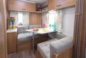 Two bunks can be created from the dining area