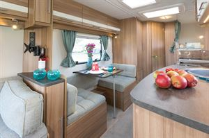 This caravan feels larger than its 5.7m body length would suggest