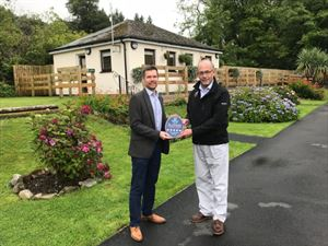 VisitScotland Regional Director, Gordon Smith, and Bob Hill, Sites Director at The Camping and Caravanning Club