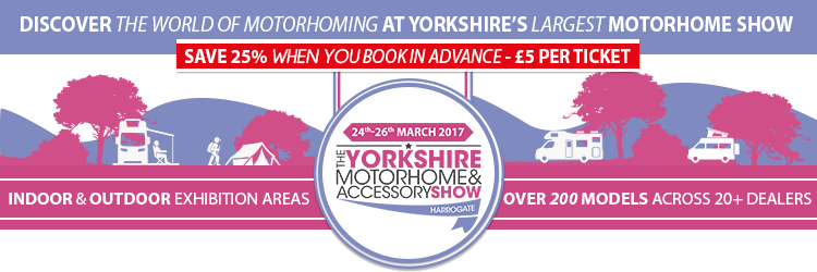 Save 25% when you book in advance for The Yorkshire Motorhome....