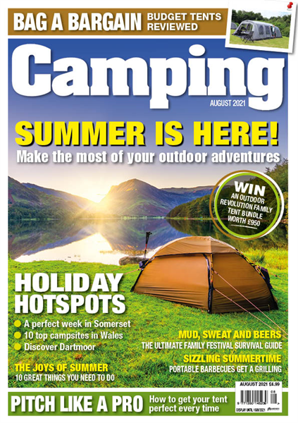 You can download the August issue of Camping now!