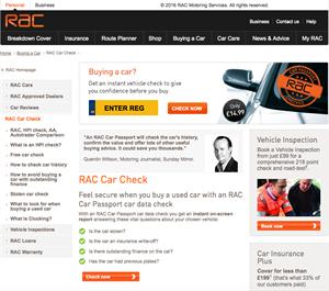 The RAC scheme costs £14.95 per check but reveals lots of details