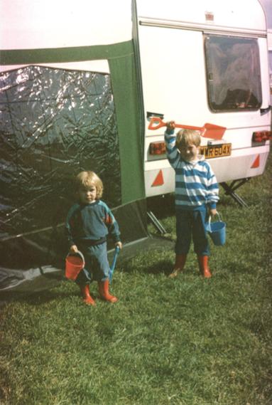 Ben Hackney-Williams, caravanning as a child