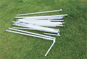 The poles of a traditional frame awnings