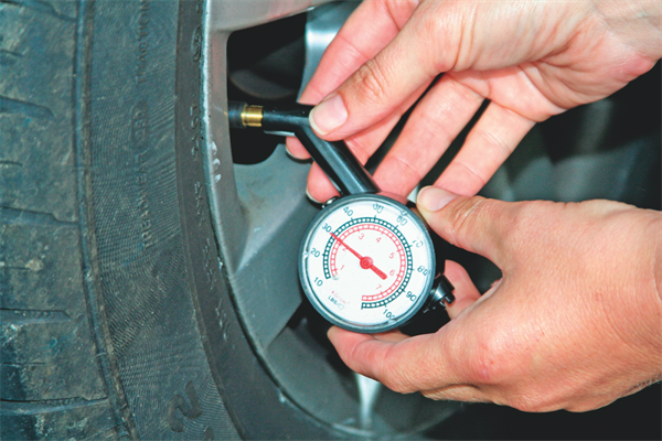 Checking your tyre pressures is essential for safety and money saving