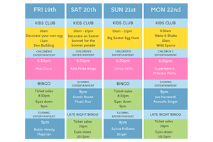 Easter events schedule