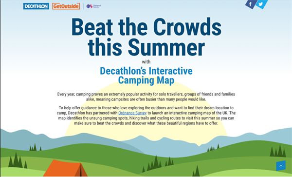 Decathlon's new Beat the Crowds this summer tool
