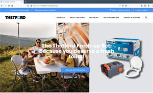 Thetford – a market leader for caravan toilets