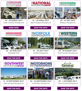 Warners outdoor motorhome shows 2017