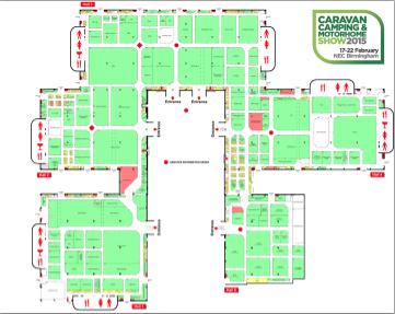 Nec Birmingham Map Find your way around the NEC Birmingham caravan show with this  Nec Birmingham Map