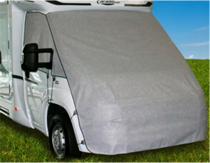 The cover protects against snow and frost
